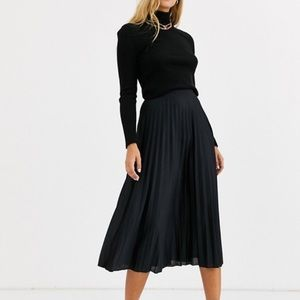 ASOS Black Pleated Skirt